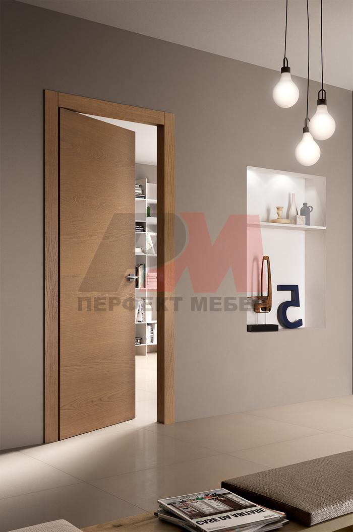 дизайнерски интериорни врати фурнир доброкачествени